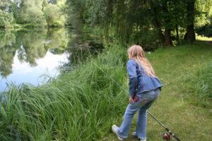 Fischen am Reidbachweiher