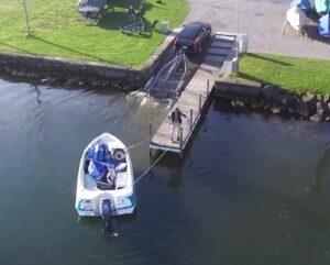 Boote auswassern